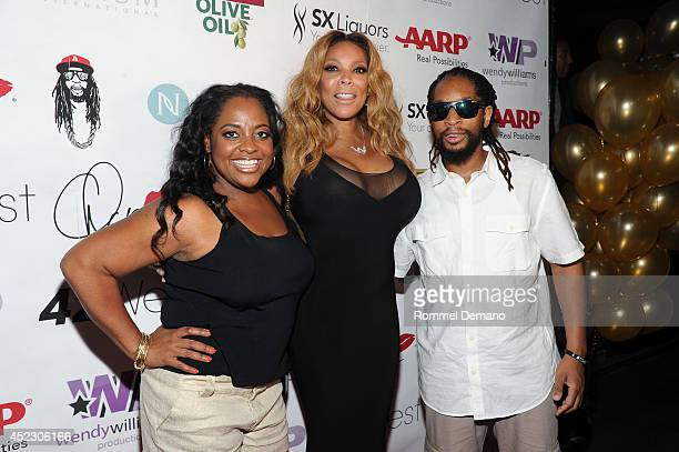 Sherri Shepherd Wendy Williams and Lil Jon attend Wendy Williams 50th birthday celebration at Out Hotel on July 17 2014 in New York City