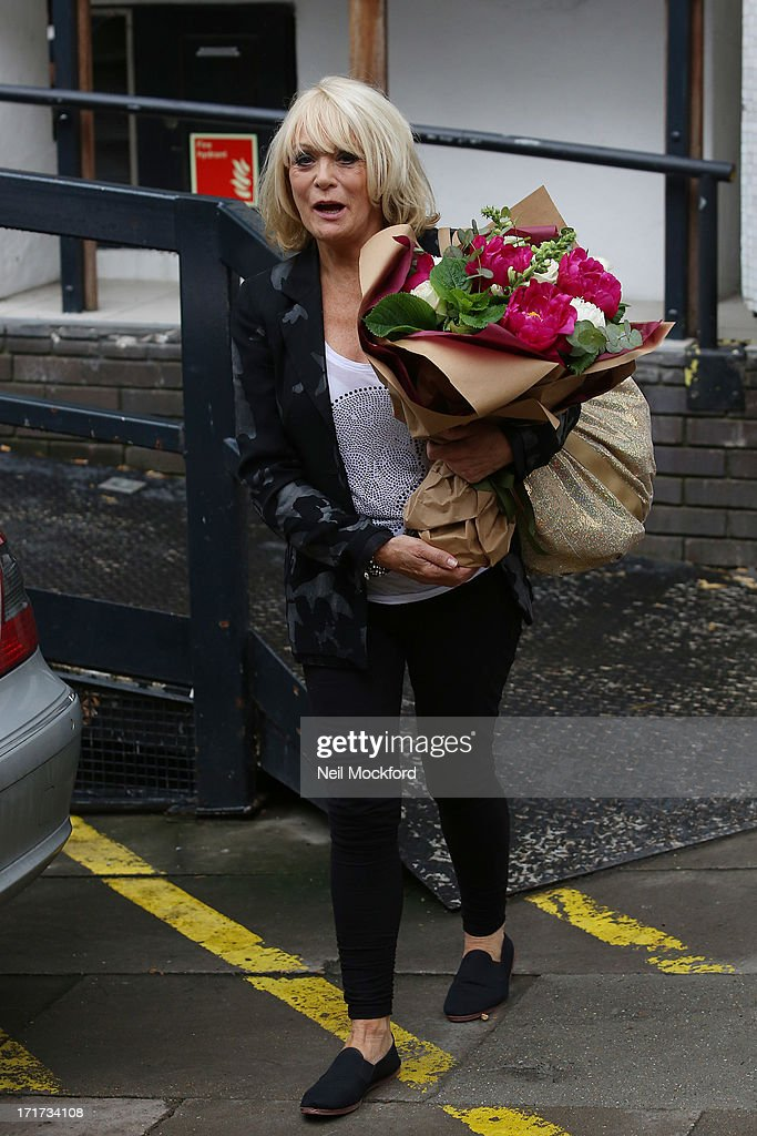 Sherrie Hewson seen leaving the ITV Studios after the last 'Loose Women' of the year show on June 28, 2013 in London, England.
