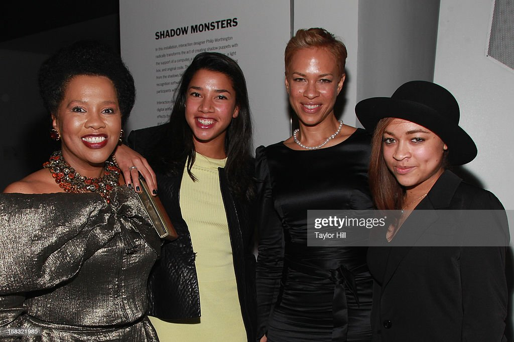 Sherry Bronfman, Hannah Bronfman, Tanya Lewis, and Satchel Lee attend The Museum of Modern Art's Jazz Interlude Gala After Party at MOMA on December 12, 2012 in New York City.