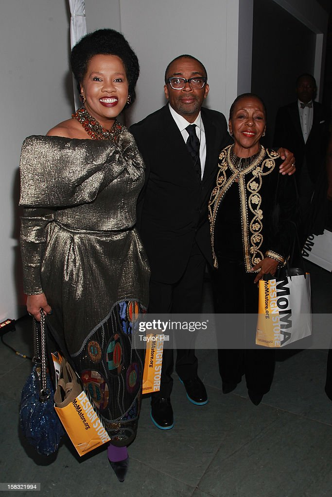 Sherry Bronfman, Spike Lee, and Pat Ramsay attend The Museum of Modern Art's Jazz Interlude Gala After Party at MOMA on December 12, 2012 in New York City.