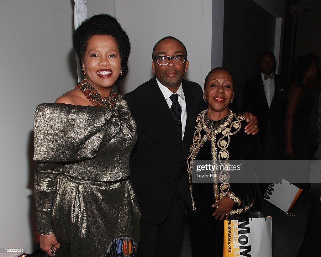 Sherry Bronfman, <a gi-track='captionPersonalityLinkClicked' href=/galleries/search?phrase=Spike+Lee&family=editorial&specificpeople=156419 ng-click='$event.stopPropagation()'>Spike Lee</a>, and Pat Ramsay attend The Museum of Modern Art's Jazz Interlude Gala After Party at MOMA on December 12, 2012 in New York City.