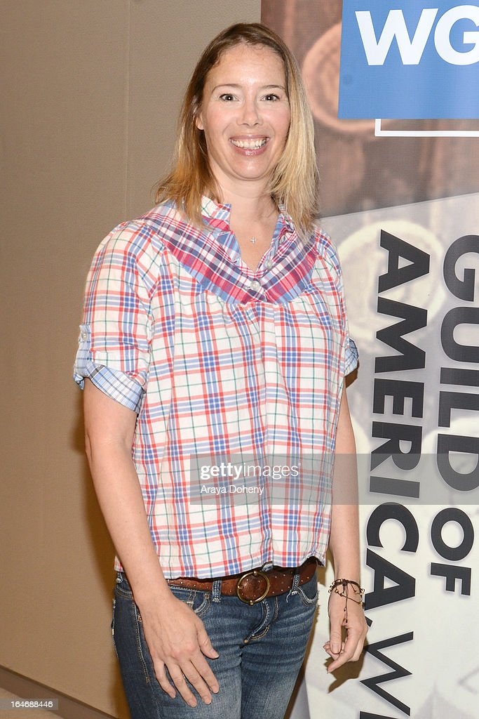 Sherry Carnes attends the WGAW's 2013 TV Staffing Brief - Press Conference on March 26, 2013 in Los Angeles, California.