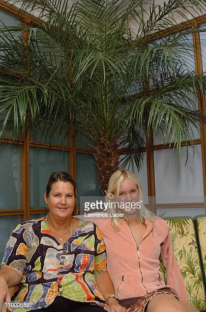 Sherry Hamilton and her daughter Bethany Hamilton during Surfer and Shark Attack Survivor Bethany Hamilton Unveils Stoked and Wired New Fragrances by...