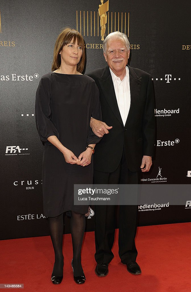 Sherry Hormann and <a gi-track='captionPersonalityLinkClicked' href=/galleries/search?phrase=Michael+Ballhaus&family=editorial&specificpeople=236061 ng-click='$event.stopPropagation()'>Michael Ballhaus</a> attend the Lola - German Film Award 2012 at Friedrichstadt-Palast on April 27, 2012 in Berlin, Germany.