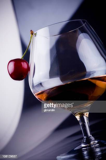 Sherry in Glass with Cherry