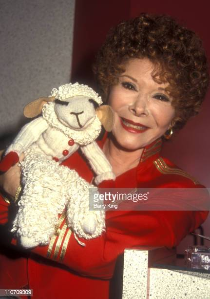 Sherry Lewis and Lambchop during 1993 VSDA Convention July 12 1993 at Las Vegas Convention Center in Las Vegas NV United States