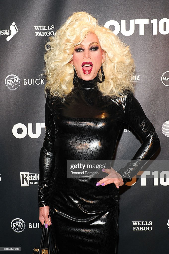 Sherry Vine attends the 2013 OUT100 gala at Terminal 5 on November 14, 2013 in New York City.