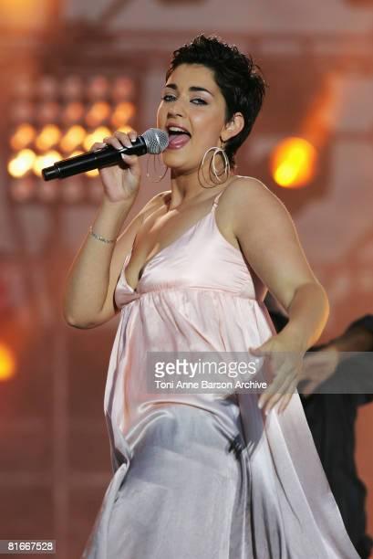 Sheryfa Luna performs at the France 2 Television's 'Fete de la Musique' at the Auteuil Horse track on June 21 2008 in Paris France