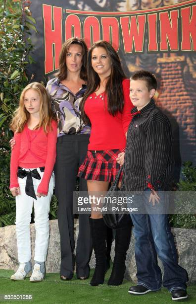 Sheryl and Bianca Gascoigne arrive with children for the VIP Gala Screening of Hoodwinked at the Vue West End central London
