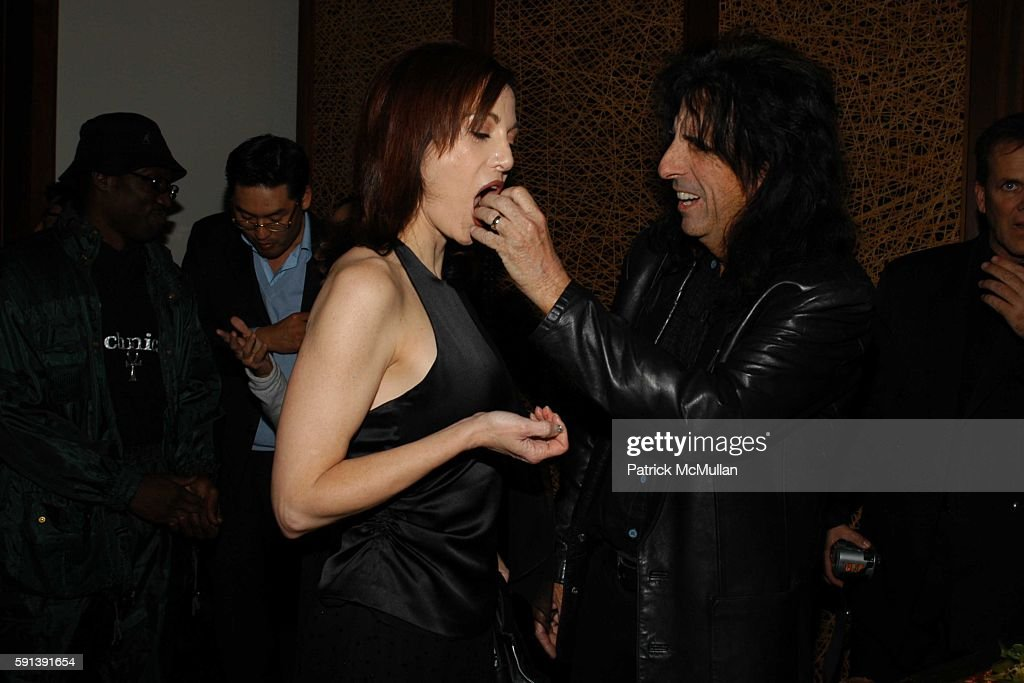 Sheryl Cooper and Alice Cooper attend Los Angeles Confidential Magazine PreOscar Bash celebrates Cover Boy Jamie Foxx sponsored by Godiva at the W...