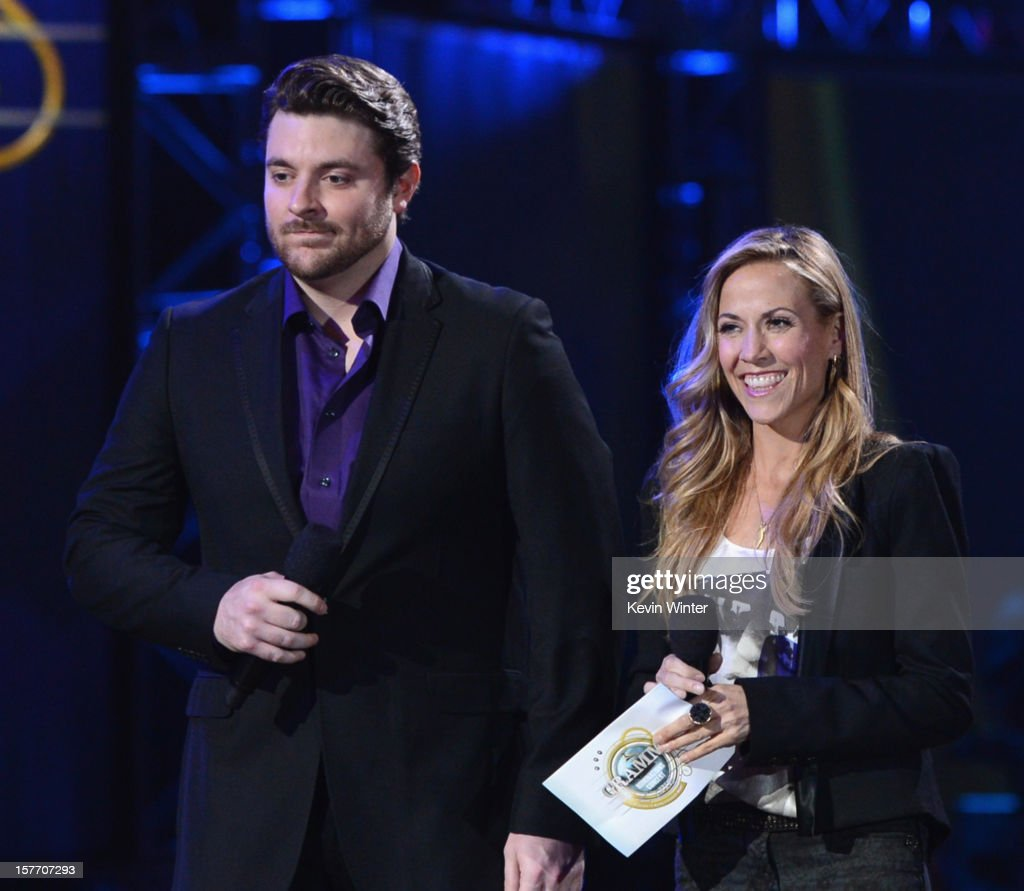 <a gi-track='captionPersonalityLinkClicked' href=/galleries/search?phrase=Sheryl+Crow&family=editorial&specificpeople=201867 ng-click='$event.stopPropagation()'>Sheryl Crow</a> and <a gi-track='captionPersonalityLinkClicked' href=/galleries/search?phrase=Chris+Young+-+Singer&family=editorial&specificpeople=221447 ng-click='$event.stopPropagation()'>Chris Young</a> attend The GRAMMY Nominations Concert Live!! held at Bridgestone Arena on December 5, 2012 in Nashville, Tennessee.