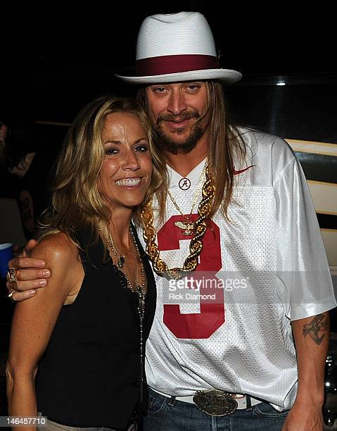 Sheryl Crow and Kid Rock backstage at the 2012 BamaJam Music and Arts Festival Day 3 at BamaJam Farms in Enterprise Alabama on June 16 2012