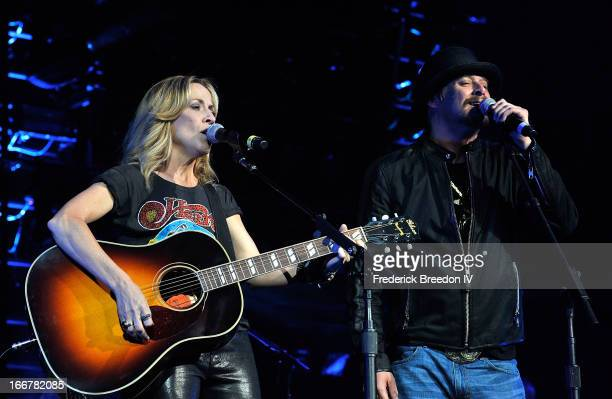 Sheryl Crow and Kid Rock perform during Keith Urban's Fourth annual We're All For The Hall benefit concert at Bridgestone Arena on April 16 2013 in...