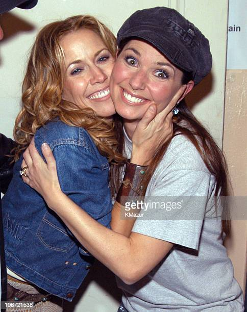 Sheryl Crow and Shania Twain during 'Willie Nelson and Friends Live and Kickin'' Premiers on USA Network on May 26 2003 Rehearsal and Backstage at...