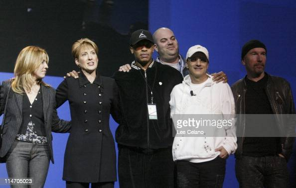 Sheryl Crow Carly Fiorina Dr Dre Interscope Geffen AM Chairman Jimmy Iovineand The Edge of U2