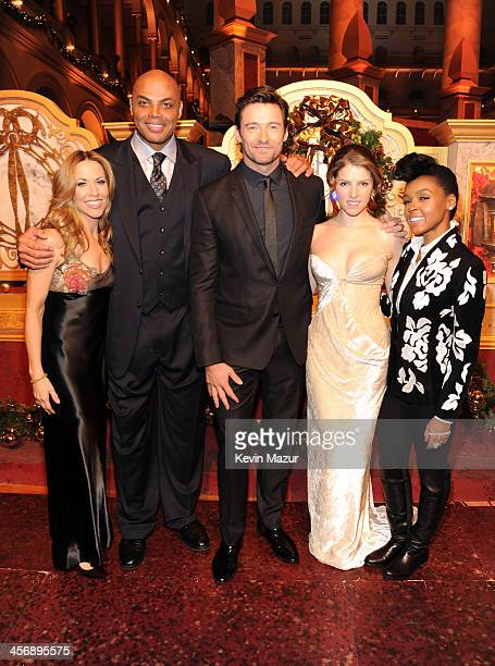 Sheryl Crow Charles Barkley Hugh Jackman Anna Kendrick and Janelle Monae attend TNT Christmas in Washington 2013 at the National Building Museum on...