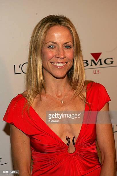 Sheryl Crow during Clive Davis' 2005 PreGRAMMY Awards Party Red Carpet at Beverly Hills Hotel in Beverly Hills California United States