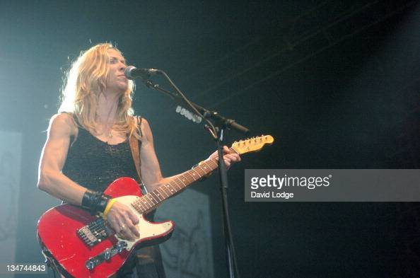 Sheryl Crow during Sheryl Crow in Concert June 23 2004 at Wembley Arena in London Great Britain