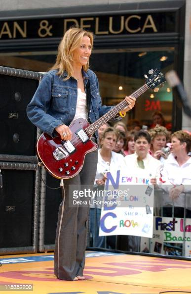 Sheryl Crow during The 'Today' Show's 2004 Concert Series Sheryl Crow at Rockefeller Plaza in New York City New York United States