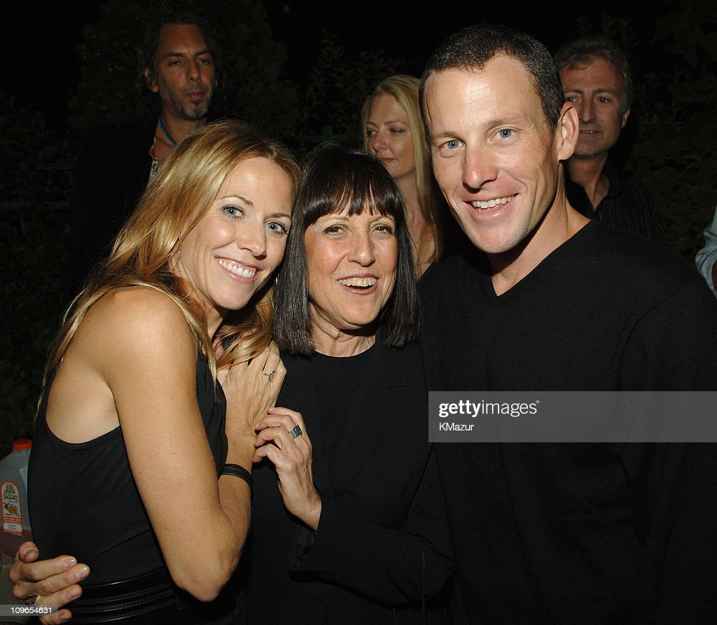 Sheryl Crow, Lisa Robinson and Lance Armstrong during Sheryl Crow 'Wildflower' Release Party Co-Hosted by AOL at Private Residence in New York City, New York, United States.