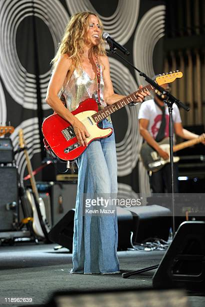 Sheryl Crow performs at PNC Bank Arts Center on July 12 2011 in Holmdel New Jersey