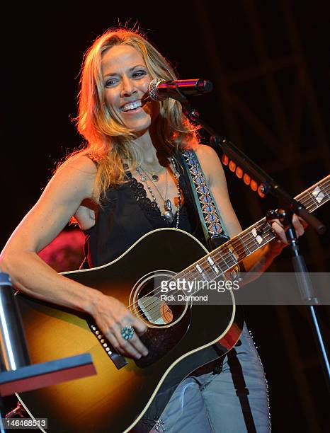 Sheryl Crow performs at the 2012 BamaJam Music and Arts Festival Day 3 at BamaJam Farms in Enterprise Alabama on June 16 2012