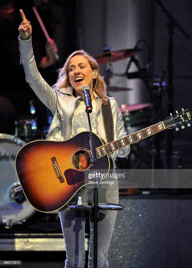 Sheryl Crow performs at The Mountain Winery on June 11, 2017 in Saratoga, California.