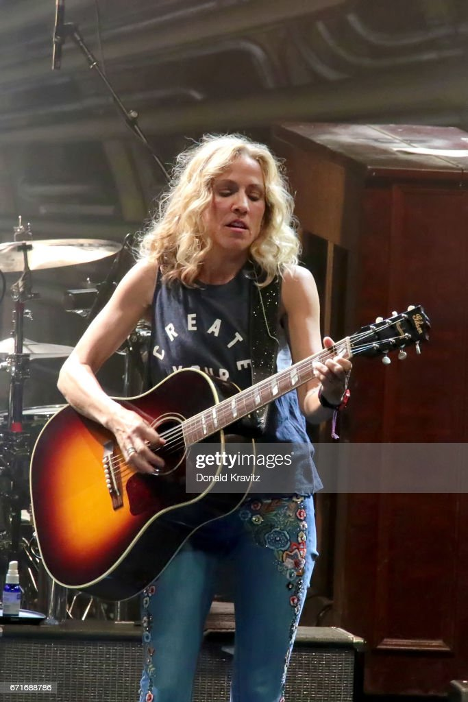 Sheryl Crow performs in concert in The Showroom at Tropicana Casino & Resort on April 22, 2017 in Atlantic City, New Jersey.