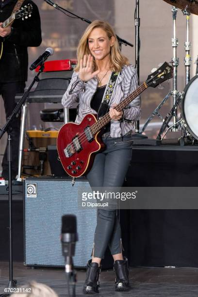 Sheryl Crow performs on NBC's 'Today' at Rockefeller Plaza on April 19 2017 in New York City