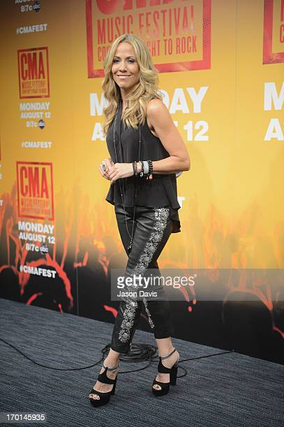 Sheryl Crow speaks during a press conference at the 2013 CMA Music Festival on June 7 2013 in Nashville Tennessee