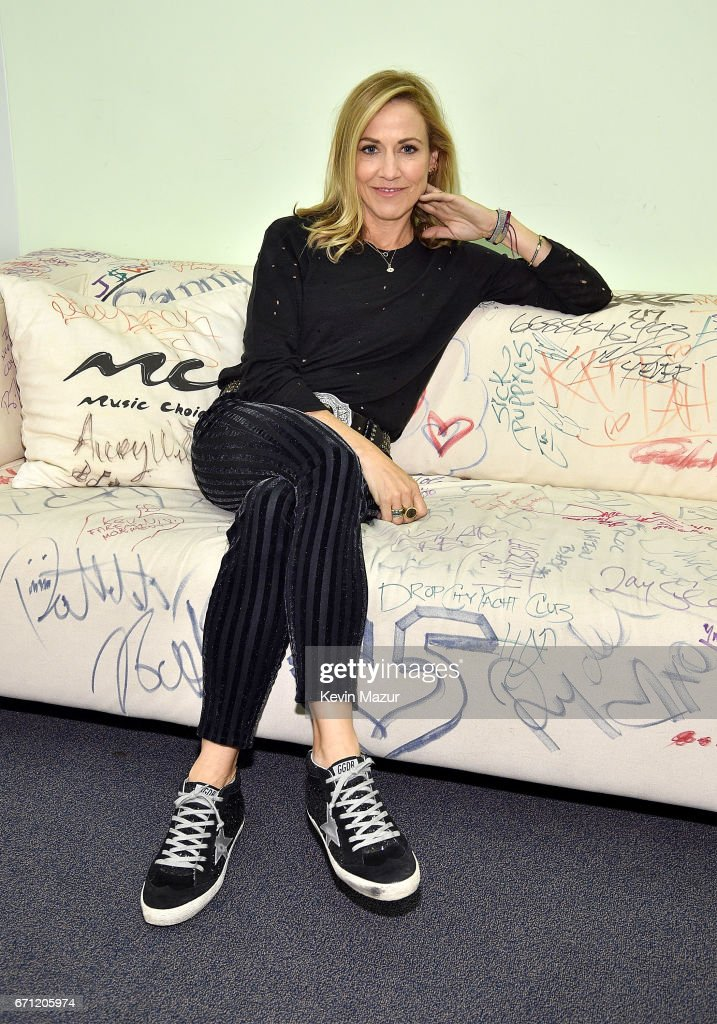 Sheryl Crow visits Music Choice on April 21, 2017 in New York City.