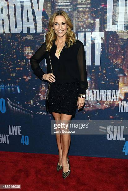Sheryl Croww attends SNL 40th Anniversary Celebration at Rockefeller Plaza on February 15 2015 in New York City