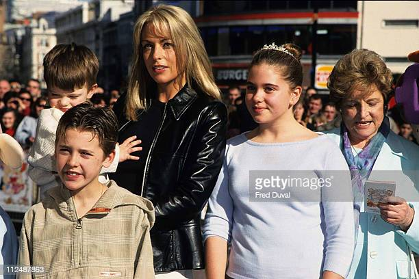 Sheryl Gascoigne and family including Bianca Gascoigne in tiara
