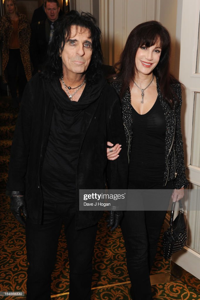 Sheryl Goddard and <a gi-track='captionPersonalityLinkClicked' href=/galleries/search?phrase=Alice+Cooper&family=editorial&specificpeople=202989 ng-click='$event.stopPropagation()'>Alice Cooper</a> attend the Q Awards 2012 at The Grosvenor House Hotel on October 22, 2012 in London, England.