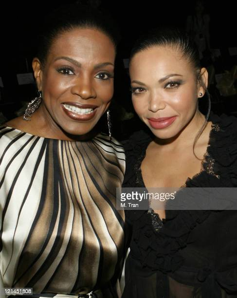 Sheryl Lee Ralph and Tisha CampbellMartin front row at Kevan Hall Fall 2007