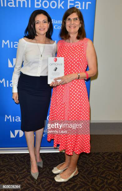 Sheryl Sandberg and Ana VecianaSuarez discuss Sandberg's new book 'Option B Facing Adversity Building Resilience and Finding Joy' presented in...