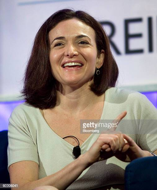 Sheryl Sandberg chief operating officer at Facebook Inc speaks at the Web 20 Summit in San Francisco California US on Wednesday Oct 21 2009 According...
