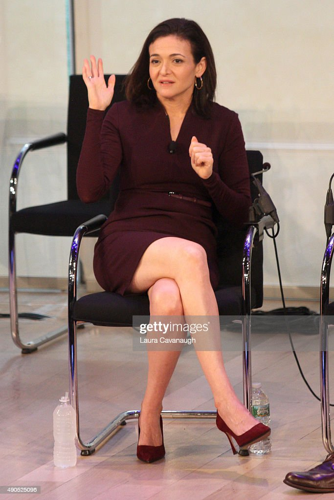 <a gi-track='captionPersonalityLinkClicked' href=/galleries/search?phrase=Sheryl+Sandberg&family=editorial&specificpeople=5922850 ng-click='$event.stopPropagation()'>Sheryl Sandberg</a> Chief Operating Officer at Facebook speaks onstage at the Connecting in a Mobile World panel presented by Facebook during Advertising Week 2015 AWXII at the Times Center Stage on September 29, 2015 in New York City.