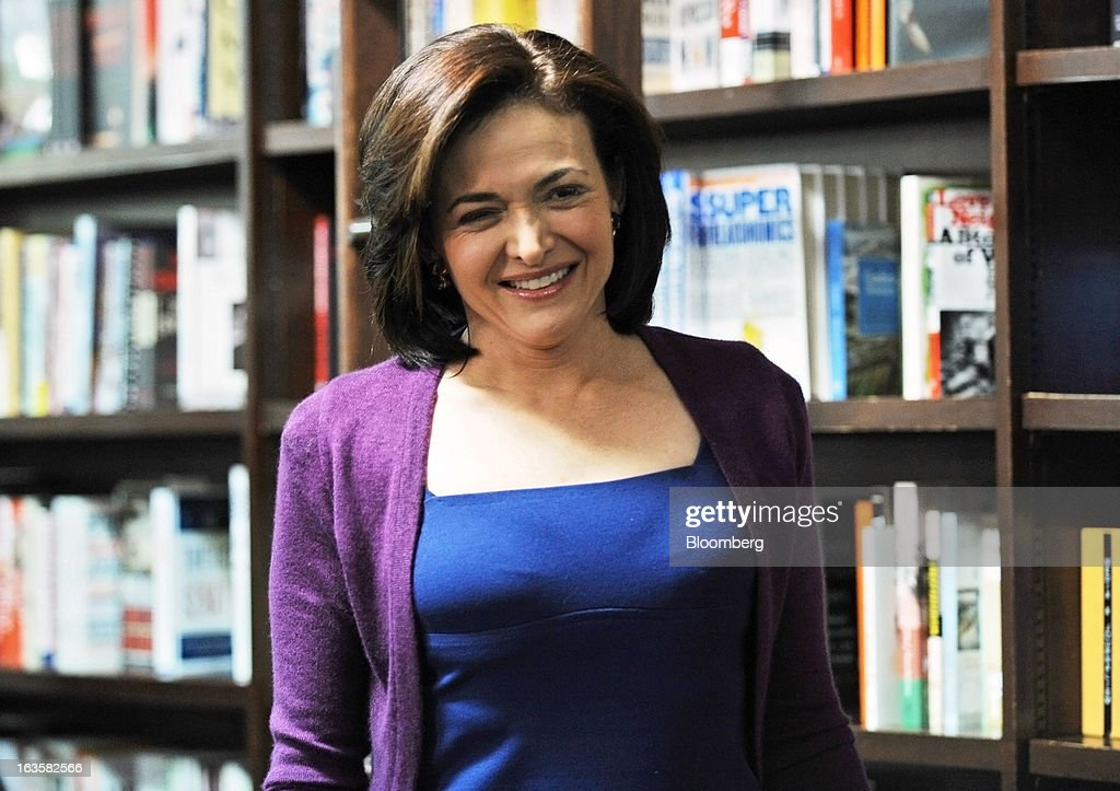 <a gi-track='captionPersonalityLinkClicked' href=/galleries/search?phrase=Sheryl+Sandberg&family=editorial&specificpeople=5922850 ng-click='$event.stopPropagation()'>Sheryl Sandberg</a>, chief operating officer of Facebook Inc., arrives at a Barnes & Noble Inc. store to speak about her new book 'Lean In' in New York, U.S., on Tuesday, March 12, 2013. Sandberg's book, released on March 11, advises women to get over their ambivalence about being ambitious, think big and take risks. Photographer: Peter Foley/Bloomberg via Getty Images