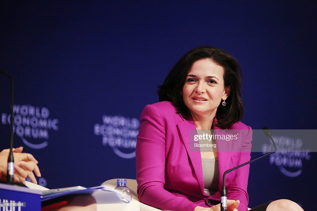 <a gi-track='captionPersonalityLinkClicked' href=/galleries/search?phrase=Sheryl+Sandberg&family=editorial&specificpeople=5922850 ng-click='$event.stopPropagation()'>Sheryl Sandberg</a>, chief operating officer of Facebook Inc., attends the World Economic Forum Annual Meeting Of The New Champions in Dalian, China, on Wednesday, Sept. 11, 2013. Sandberg met with the government agency that oversees controls on the Internet in China, where access to the company's social networking website is blocked. Photographer: Tomohiro Ohsumi/Bloomberg via Getty Images