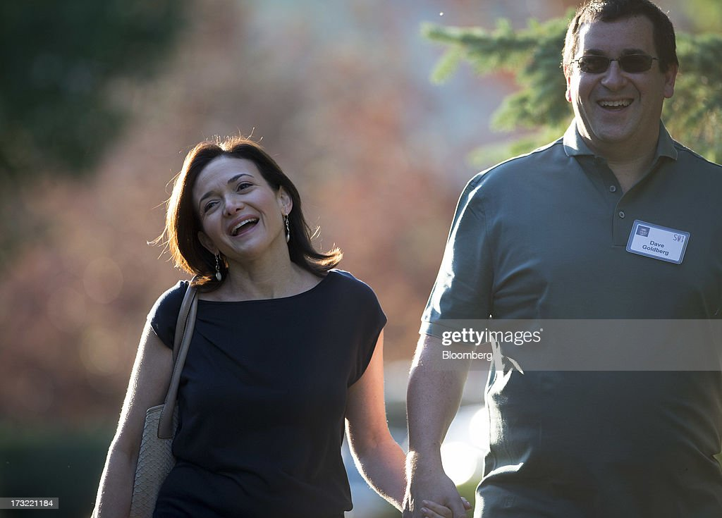 Sheryl Sandberg, chief operating officer of Facebook Inc., left, arrives for a morning session at the Allen & Co. Media and Technology Conference in Sun Valley, Idaho, U.S., on Wednesday, July 10, 2013. Executives from media, finance and politics mingle at the mountain resort between presentations on business trends and social issues, brought together by New York investment banker Herb Allen. Photographer: Scott Eells/Bloomberg via Getty Images