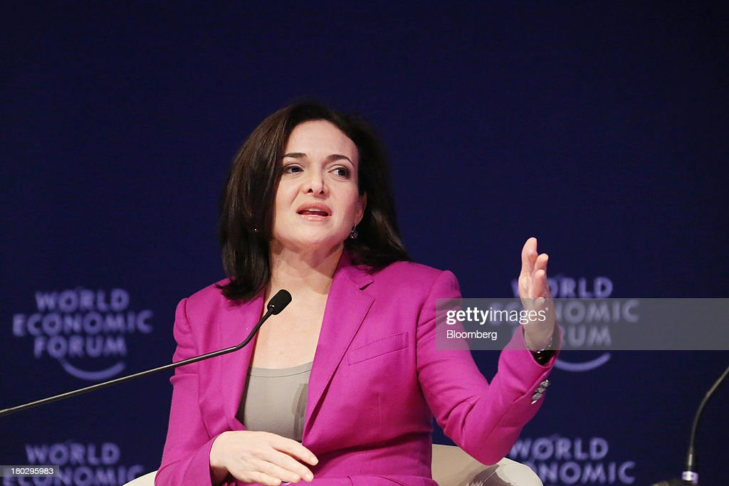 <a gi-track='captionPersonalityLinkClicked' href=/galleries/search?phrase=Sheryl+Sandberg&family=editorial&specificpeople=5922850 ng-click='$event.stopPropagation()'>Sheryl Sandberg</a>, chief operating officer of Facebook Inc., speaks during the World Economic Forum Annual Meeting Of The New Champions in Dalian, China, on Wednesday, Sept. 11, 2013. Sandberg met with the government agency that oversees controls on the Internet in China, where access to the company's social networking website is blocked. Photographer: Tomohiro Ohsumi/Bloomberg via Getty Images