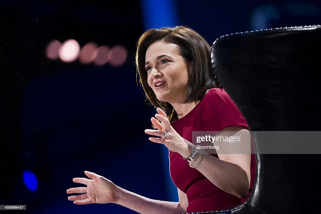 Sheryl Sandberg, chief operating officer of Facebook Inc., speaks during the DreamForce Conference in San Francisco, California, U.S., on Wednesday, Nov. 20, 2013. Salesforce.com Inc. introduced an overhauled version of its mobile software, seeking to ensure clients and partners will be able to use more features of the company's sales, marketing and customer service software. Photographer: David Paul Morris/Bloomberg via Getty Images