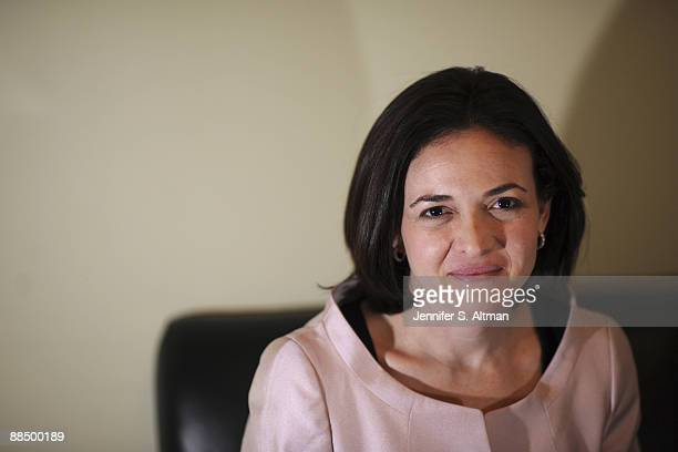 Sheryl Sandberg Chief Operating Officer of Facebook posing for Business Week magazine in Manhattan