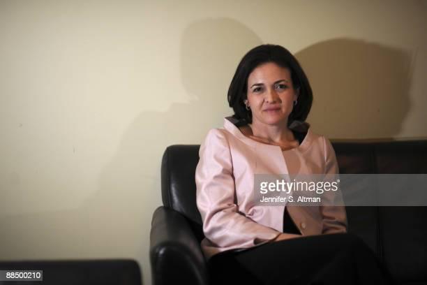 Sheryl Sandberg Chief Operating Officer of Facebook posing for Business Week magazine in Manhattan
