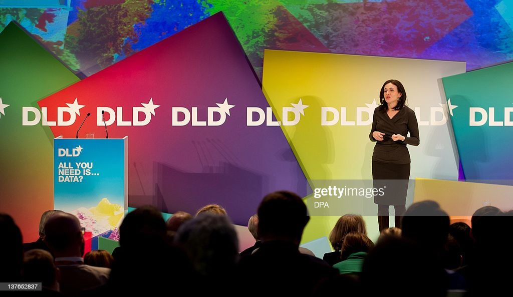 Sheryl Sandberg, chief operating officer (COO)of social media giant Facebook, speaks during the DLD (Digital, Life, Design) Conference in Munich, on January 24, 2012. Founded in 2005, the DLD conference offers debates on deals with the transformation of markets, media, culture and society.