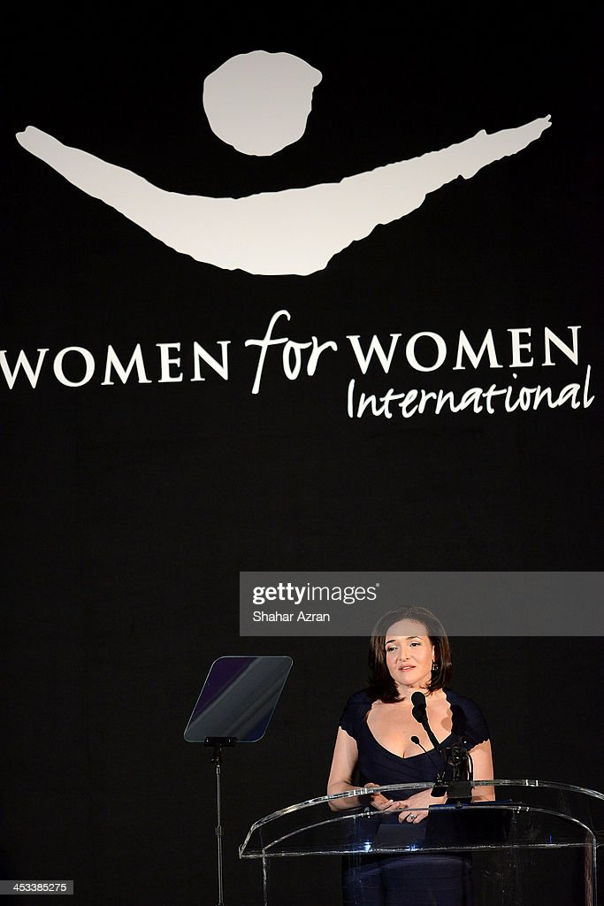 Sheryl Sandberg, Facebook Chief Operating Officer onstage at the Women for Women 20th Anniversary Gala celebration at the American Museum of Natural History on December 3, 2013 in New York City.