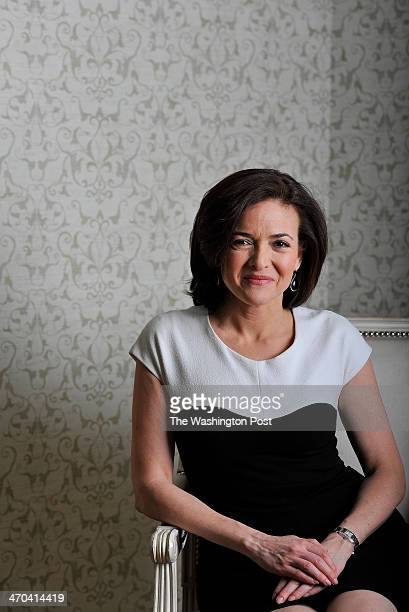 Sheryl Sandberg who is the COO of Facebook and the author of 'Lean In Women Work and the Will to Lead' poses for a portrait at the Willard...