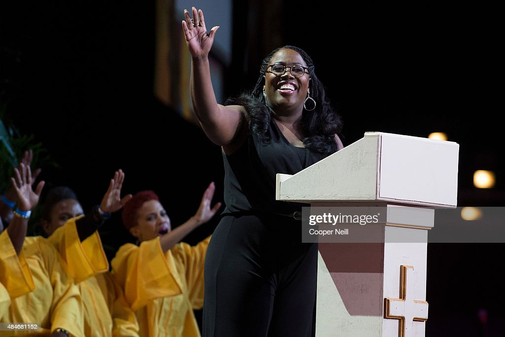Sheryl Underwood performs in the 'A Time to Laugh' comedy show during MegaFest at the Dallas Convention Center on August 20, 2015 in Dallas, Texas.