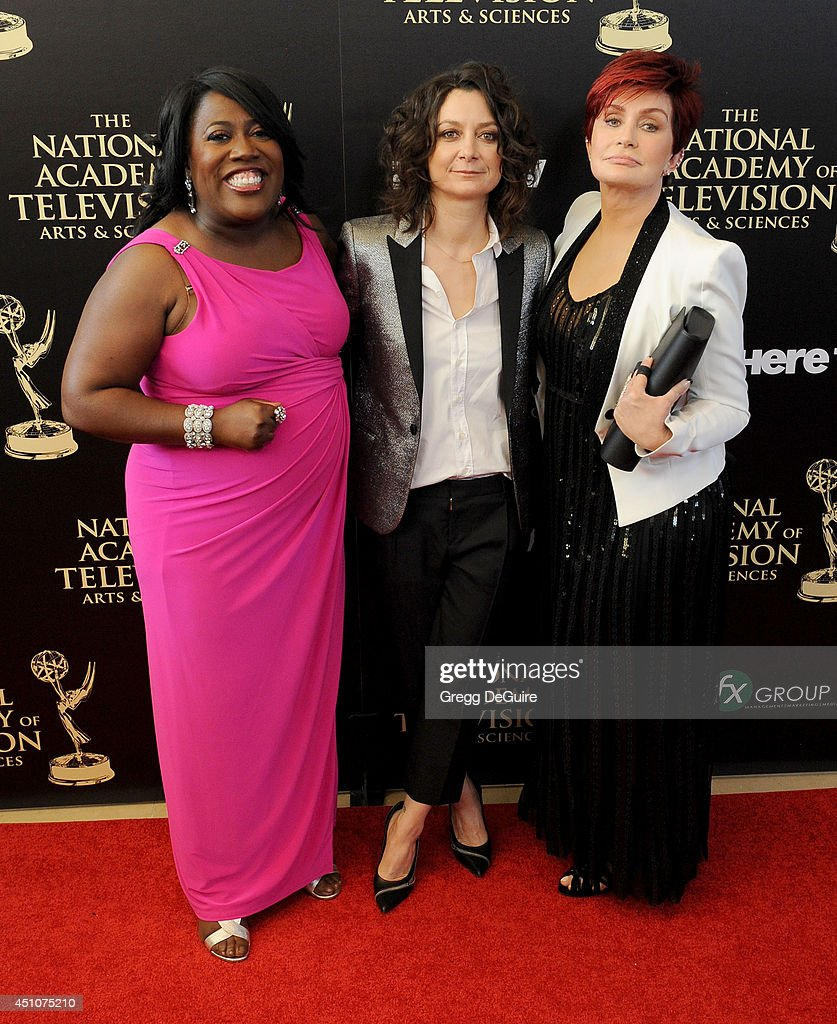 Sheryl Underwood, Sara Gilbert and Sharon Osbourne arrive at the 41st Annual Daytime Emmy Awards at The Beverly Hilton Hotel on June 22, 2014 in Beverly Hills, California.